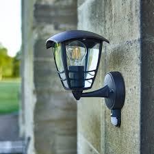 creek up wall lantern pir black lighting direct