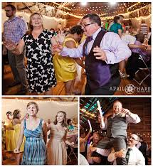 A Photo Collage Of Wedding Guests Dancing And Enjoying Themselves At The D Barn Also