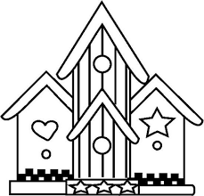 Birdhouse 8 Coloring Page
