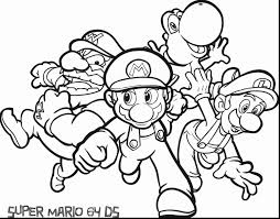 Spectacular Mario Printable Coloring Pages With Free Color And For Toddlers