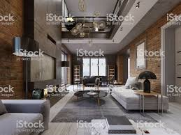 100 Interior Design High Ceilings Modern Loft Living Room With Ceiling Sofa Red Brick