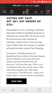 E.l.f. Cosmetics Orders Of $25+ Get 30% Off, Free Shipping ... 25 Off Elf Cosmetics Uk Promo Codes Hot Deal On Elf Free Shipping Today Only Coupons Elf Birkenstock Usa Online Coupons Milani Cosmetics Coupon Code 2018 Walgreens Free Photo 35 Off Coupon Cosmetic Love Black Friday Kmart Deals 60 Nonnew Etc Items Must Buy 63 Sale Eligible Case Study Breakdown Of Customer Retention Iherb Malaysia Code Tvg386 Haul To 75 Linux Format Pakistan Goldbelly Discount