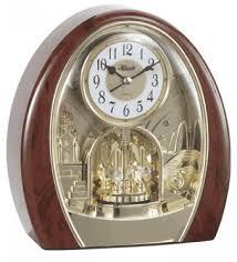 Bulova Table Clocks Wood by Clockway Hermle Musical Melodies Motion Clock Quartz Jhe1959