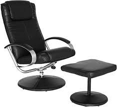 amstyle fernsehsessel look tv design relax sessel wohnzimmer verstellbar modern bezug kunstleder schwarz drehbar mit hocker x xl 110 kg