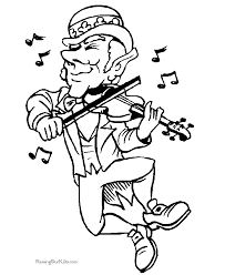 Le Beautiful Leprechaun Coloring Pages Free