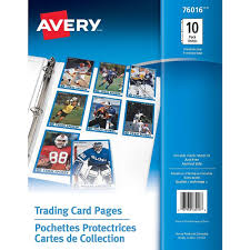 Avery Trading Card Pages, Clear, 10/Pack, (76016)