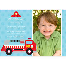 Fire Truck Fun | Birthday Invitation | Pear Tree