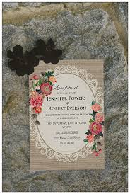 Chic Floral Rustic Wedding Invitations For Country Ideas EWI397