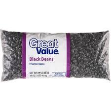 Great Value Black Beans 16 Oz Bag