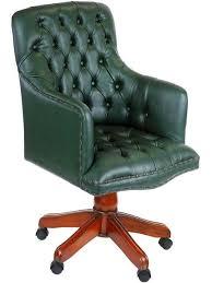 fauteuil de bureau vert fauteuil de bureau anglais en cuir vert wingfield meuble de style