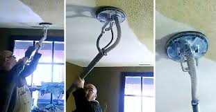 Does Popcorn Ceilings Have Asbestos In Them by Man Removes Ugly Popcorn Ceiling In Just Seconds U2026 With Zero Mess