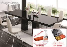 design esstisch tisch he 111 schwarz grau hochglanz ausziehbar 160 bis 260 cm