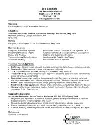 Automotive Technician Resume Objective Collection Of Solutions