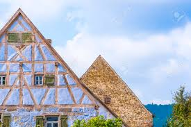100 Architecture Gable Antique German Gable Roofs And Facades Against Sky Architectural