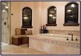 mediterranean style bathroom with italian tile