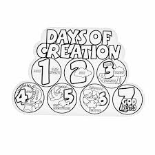 7 Days Of Creation Coloring Pages
