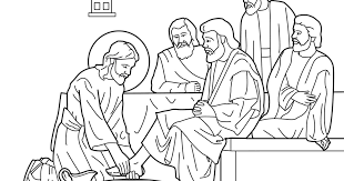 Jesus Washes The Disciples Coloring Page His Pages