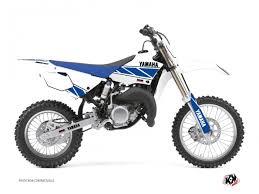 kit deco 85 yz kit déco moto cross replica yamaha 85 yz blanc bleu kutvek kit