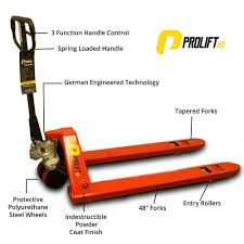 100 Pallet Truck ProliftHD 5500 Lbs 27 In X 48 In New Jack PL5500HD Heavy