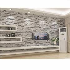 3D Wallpaper Brick Pattern Textured TV Background Home Art Decor