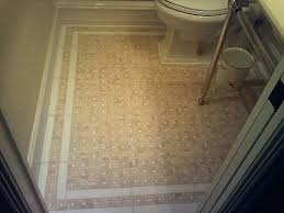 Tile Floor Border Bathroom With White Patterns M8279
