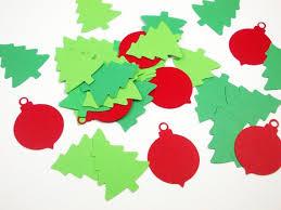 Christmas Confetti Holiday Tree Cutouts