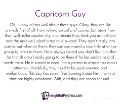 capricorn man attraction and his personality