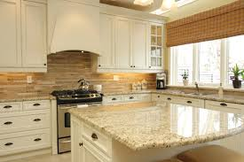 Kitchen Cabinets Cream Rectangle Rustic Stone And Backsplash Ideas Lacquered Design For White