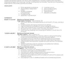 Resume Examples For Warehouse Worker New General Template Lovely Free Sample Awesome Best