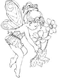 Angel Coloring Pages For Preschool Printable Colors Fairy Adults