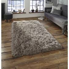 BRECAN Large Grey Wool Rug 170 X 240cm