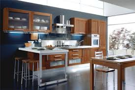 kitchen colors brown cabinets blue wall kitschy kitchen