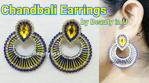 How To Make Designer Chandbali Earrings At Home Using Stone Chain ... How To Make Pearl Bridal Necklace With Silk Thread Jhumkas Quiled Paper Jhumka Indian Earrings Diy 36 Fun Jewelry Ideas Projects For Teens To Make Pearls Designer Jewellery Simple Yet Elegant Saree Kuchu Design At Home How Designer Earrings Home Simple And Double Coloured 3 Step Jhumkas In A Very Easy Silk Earring Bridal Art Creativity 128 Jhumka Multi Coloured Pom Poms Earring Making Jewellery Owl Holder Diy Frame With