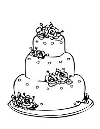 Wonderful Wedding Cake Coloring Pages Spectacular Uncategorized u0026middot Simple Wedding Cake Clip Art