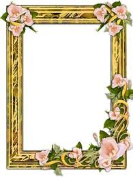 PNG Gold Frame With Flowers On A Transparent Background 1200 X 1376