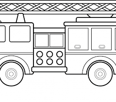 Fire Truck Coloring Pages Free Printable For Kids Downloads