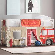100 Fire Truck Loft Bed Zoomie Kids Woodlynne Department Curtain Set For Junior