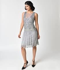 Buy Boardwalk Empire Inspired Dresses 1920s Style Lilac Beaded Drop Waist Elaina Flapper Dress 9900 AT