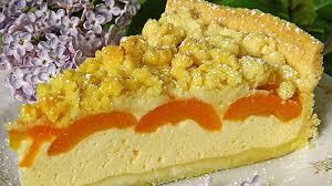 saftiger käsekuchen mit aprikosen und streuseln