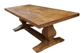 Segovia Reclaimed Wood Trestle Dining Table