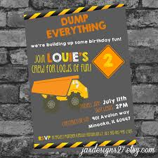 Digital File Birthday Party Invitations - Construction - Birthday ... Mud Trifle And A Dump Truck Birthday Cake Design Parenting Diy Awesome Party Ideas Pinterest Truck Train Cookies Firetruck Dump Kids Cassie Craves Dirt In Cstruction With Free Printable Shirt Black Personalized Stay At Homeista Invitations Dolanpedia The Mamminas A Garbage Ideal For Anthonys Our Cone Zone