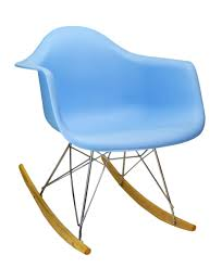 100 Eames Style Rocking Chair In Blue The Khazana Home Austin Furniture
