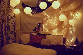 String Lanterns Would Look Perfect Combined With Lights And Drapes