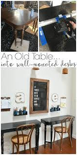 What A Great Idea To Use An Old Table Make Kids Desks Just Cut