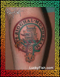 Clan MacGreggor Crest Badge Tattoo Nbspby