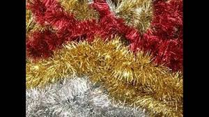 Gold Christmas Tree Tinsel Icicles by Tinsel Christmas Garland Youtube