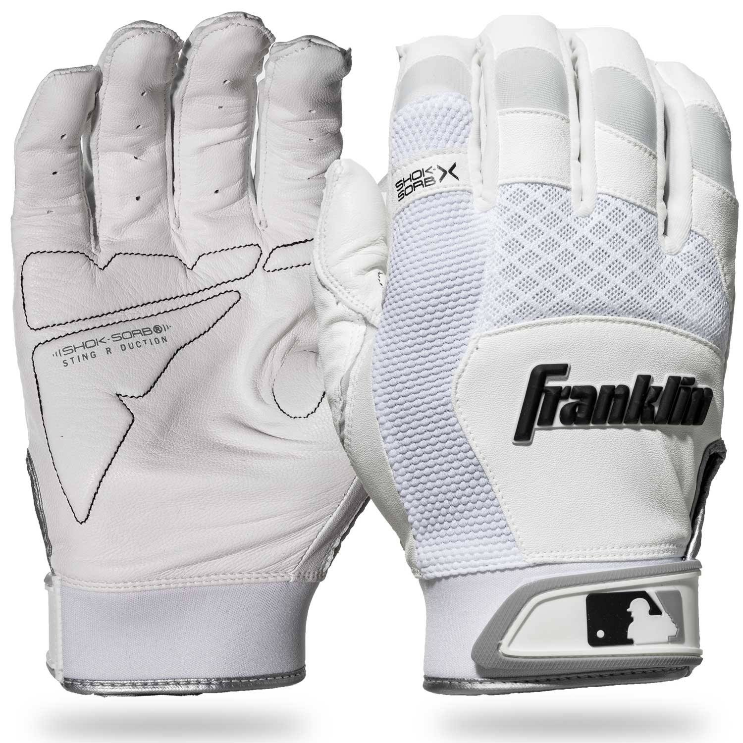 Franklin Batting Gloves, Shok-Sorb X, Medium, Adult