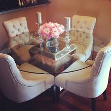 Dining Room Chairs For Glass Table by Best 25 Glass Dining Table Ideas On Pinterest Glass Dining Room