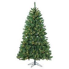 Warm Lit Montana Pine Christmas Tree
