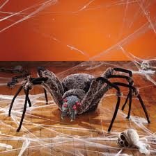 Motion Activated Halloween Decorations by The Giant Spider With Led Eyes Is A Great Addition To Your Creepy